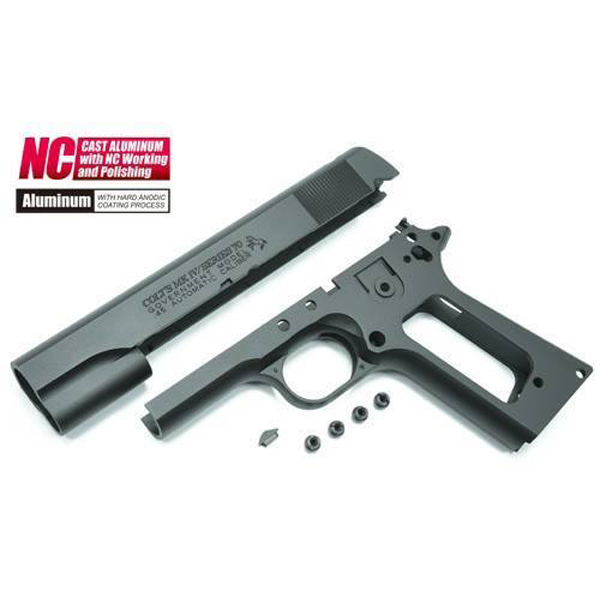 Guarder Aluminum Slide & Frame for MARUI Series'70 (with Marking/Black)