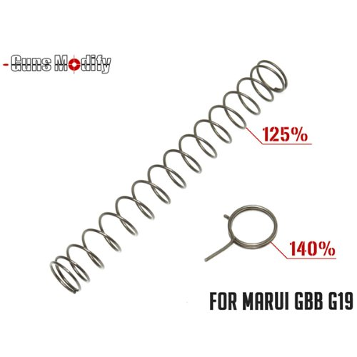 Guns Modify 125% Recoil / 140% Hammer Springs Set for Tokyo Mauri Glock 19