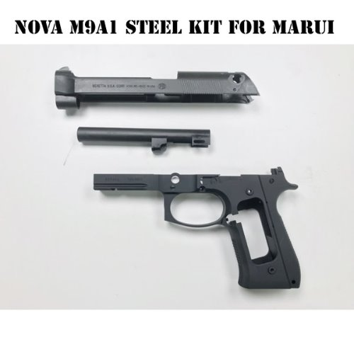 Nova CNC Steel Slide & Aluminum Frame Kit for Marui Airsoft M9 GBB series - Limited M9A1 version