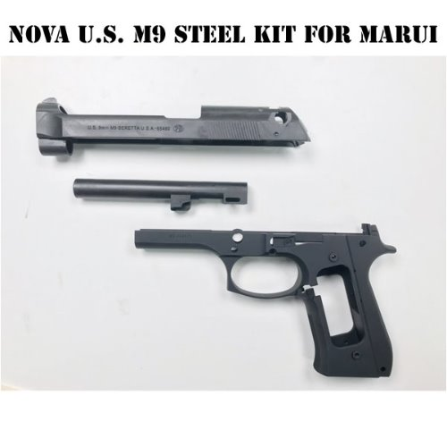 Nova CNC Steel Slide & Aluminum Frame Kit for Marui Airsoft M9 GBB - Limited US M9 version