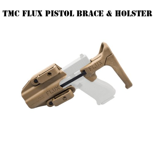 [TMC] FLUX Defense Pistol Brace & Holster Set (TAN)