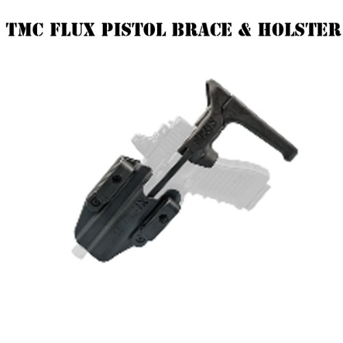 [TMC] FLUX Defense Pistol Brace & Holster Set (BK)